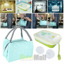 8L Insulated Lunch Bag + Microwave Bento Lunch Box Picnic Food Container Storage