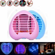 LED Electric Mosquito Fly Bug Insect Trap Zapper Killer Night Lamp Heart Shape