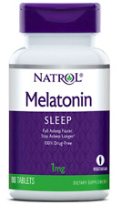MELATONIN NATROL 1 mg 90/180 VegeTabletten mit Vitamin B6 Kalzium Schlaf Gut