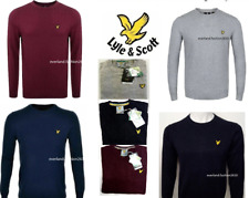 NEW LYLE AND SCOTT LONG SLEEVE CREW NECK JUMPER FOR MEN FOR LATE WINTER