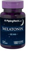 MELATONIN Piping Rock 12mg-180 Tab Relax Besser Schlaf Gut Schlaftabletten