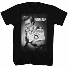 Ace Ventura BNW Poster T Shirt Licensed Funny Movie Tee Black