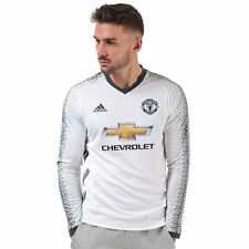 adidas Mens Manchester United 2016-17 Long Sleeve Breathable Third Shirt White