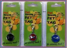 PET DOG COLLAR TAG ID IDENTITY CHARM S/STEEL DISC BONE