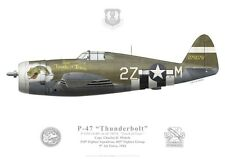 "Print P-47 Thunderbolt ""Touch of Texas"", Capt. Mohrle, 405th FG (par G. Marie)"