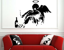 Banksy Style Fallen Angel Art Vinyl Wall Stickers Decal High Quality Decor NEW