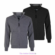 NEW MENS ZIP UP POLO NECK FAUX FUR JACKET JUMPER LOOK CARDIGAN TOP SIZE S-XXL