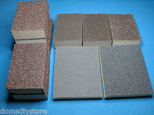10 x Sandpaper wet and dry Sanding Block / pad ALL Grades FINE MEDIUM COARSE