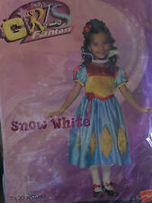 GIRLS CHILDS SNOW WHITE PRINCESS FAIRY TALE DRESS UP FANCY DRESS COSTUME, OUTFIT