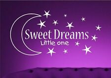 Sweet Dreams Kids Wall Art Sticker Quote Decal Transfer Mural Stencil Art Tattoo