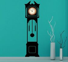 "Large Grandfather Clock Silhouette Wall Stickers Clock Background 180cm 71"" UK"