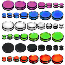UV Flesh Saddle Plug Tunnel 3-25mm ALL UV 7 Farben NEW--PIERCINGS von ALLFORYOU
