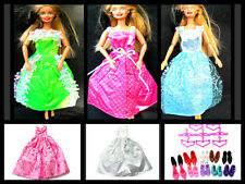 1x BARBIE SINDY DOLL TOYS CLOTHING OUTFIT LONG DRESS BALL GOWN WEDDING UK SELLER