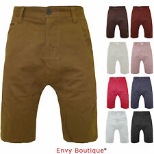 New Mens Chino Shorts Casual 100% Cotton Cargo Combat Drop Crotch Summer Jeans