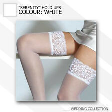 "White Sheer Hold ups 20 Denier Wedding / Bridal ""Serenity"" Lace Top"