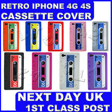 CASSETTE RETRO TAPE COVER FOR IPHONE 4 4G 4S GEL SILICONE STYLISH CASE SKIN
