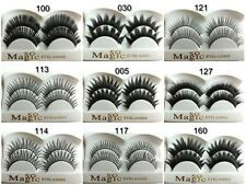 10 Pairs Thick Natural Fake False Eyelashes With FREE GLUE In Many Design
