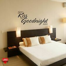 """Always kiss me goodnight"" Quote Wall Art Sticker / Wall Decal Vinyl"
