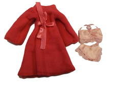 BARBIE DOLL SIZE LONG DRESSING GOWN BATH ROBE SLIPPERS & TOWEL 3 COLOURS: PINK