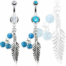 "Bauchnabel Piercing ""Dream Catcher"" Exklusiv 2 Farben -- PIERCINGS von ALLFORYOU"