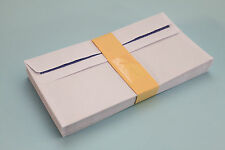 DL 80gsm SMOOTH WHITE SELF SEAL OPAQUE ENVELOPES. PLAIN / WINDOW. 110mm x 220mm.