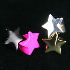No.805 Big Star Alloy Ring In 4 colors /  Free Gifts & Tracking Number