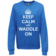 KEEP CALM AND WADDLE ON WOMENS PREGNANCY MATERNITY BIRTH SWEATSHIRT JUMPER
