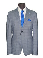 giacca uomo slim sartoriale con toppe cotone stretch made in italy decostruita