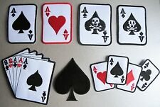 ACE of SPADES Playing Cards Iron-On Patch ACES Hearts Diamonds Clubs POKER HAND