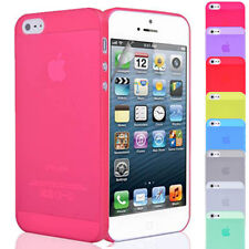 Ultra Thin Crystal Clear Hard Case Cover Fits FOR Apple iPhone 5 +Screen Film