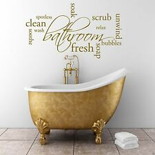 Relax Soap Bathroom Wall Art Sticker Quote Decal Mural Stencil Transfer Graphic