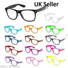 Retro Geek Punk Style Wayfarer Glasses Clear Lens Hen Party Stag Sunglasses  UK
