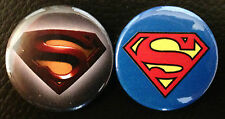 "BUY 2 & GET 1 FREE Man of Steel or Superman - 25mm 1"" Pin Button Badges Comics"