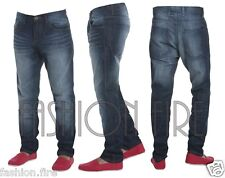 **Mens Boys Designers Conspiracy Skinny Fit Jeans Denim Chinos Dark Wash 30-38**