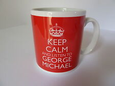 Keep Calm and Listen To George Michael Gift Mug Carry On Cool Britannia Retro