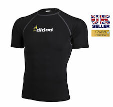 Mens new short sleeve compression shirt base layer top skin tight sports jersey