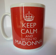 Keep Calm and Listen To Madonna  Mug Carry On Retro Gift Cup