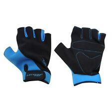 Dunlop Fingerless Blue+Black Bike Mitts/Cycling Gloves - Road / Mountain Biking