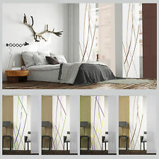 schiebevorhang flaechenvorhang mit stickerei 40cm breit braun milchweiss ebay. Black Bedroom Furniture Sets. Home Design Ideas