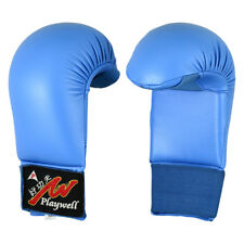 Playwell Karate Mitts Blue Sparring Gloves Training Competition Protective Fight