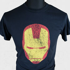 Iron Man Face New Super Hero T Shirt Marvel  Cool Retro Sci Fi Avengers Vintage