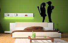 Banksy 'Boy Meets Girl'  vinyl stickers wall decorations mural decal decor NEW