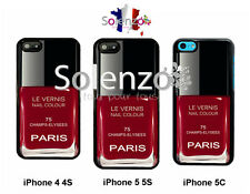 Coque case iPhone 4 4S 5 5S 5C Samsung S2 S3 VERNIS A ONGLES  NAIL Paris