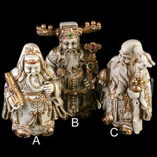 Fridge Magnet - 3D Resin Lu Fu Shou Lucky Chinese Gods, Good Luck, Prosperity