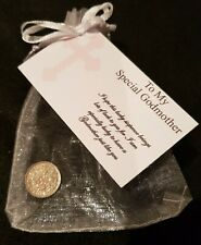 Godmother LUCKY PENNY Christening Baptism Godparent Baby Keepsake