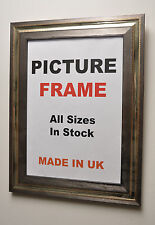 Silver on silver 40mm wide Frame,All Sizes|Picture Frames|Photo frame|Made in UK