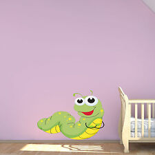 BABY CATERPILLER BUG Colour Wall Sticker Decal Transfer Mural Girls Bedroom