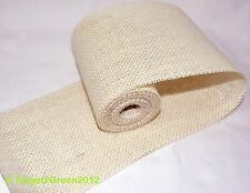 Ivory Natural Jute Burlap Hessian Trims Tape Ribbon Rustic Wedding Floristry