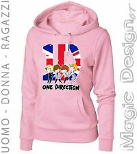 FELPA BIANCA 1D ONE DIRECTION GROUP CARTOON RAGAZZA E LADY  BIANCA FEMMINILE