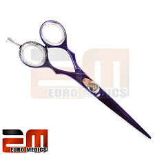 "4.5"",5"",5.5"",6"" PURPLE Barber Hairdressing Scissors Shears Salon Razor Sharp SS"